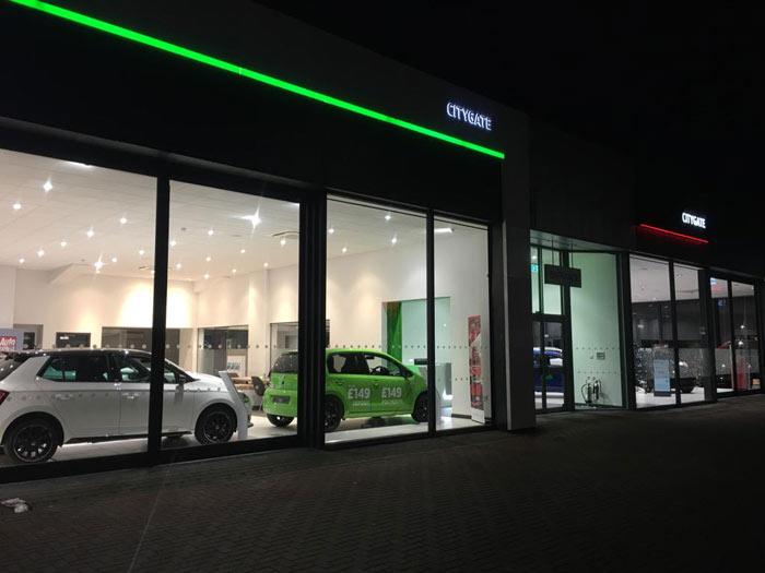 Skoda Car Dealership Electrical Contract Slough