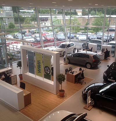Electrical contractor Southampton - car showroom